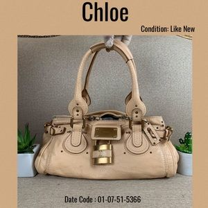 Chloe shoulder Bag paddington leather beige tote